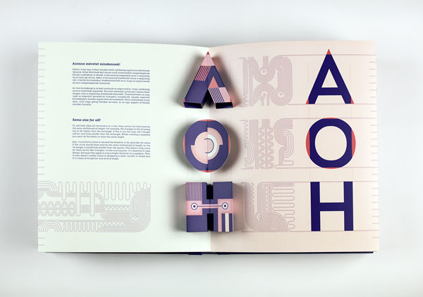 Coloured typography