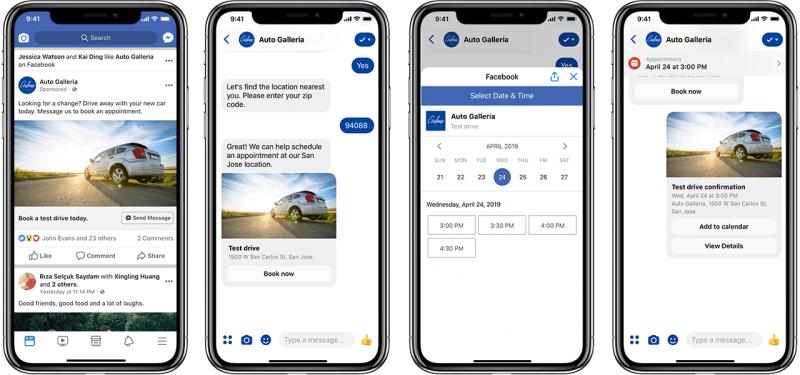 Facebook Messenger Appuntamenti